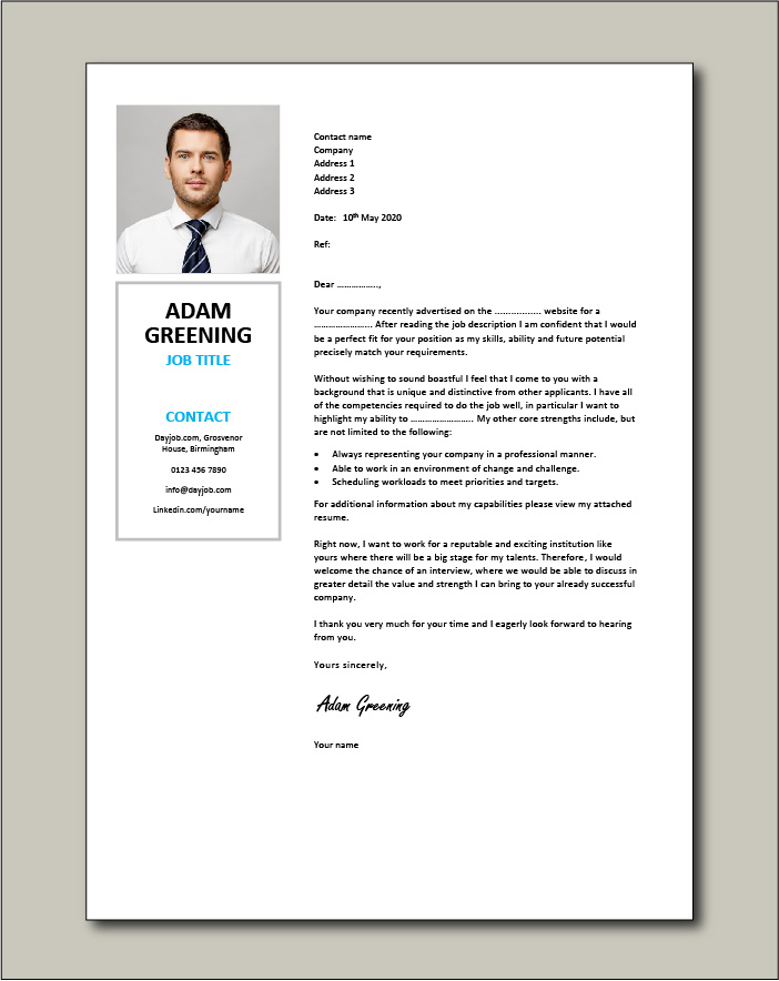 Free Cover letter example 67
