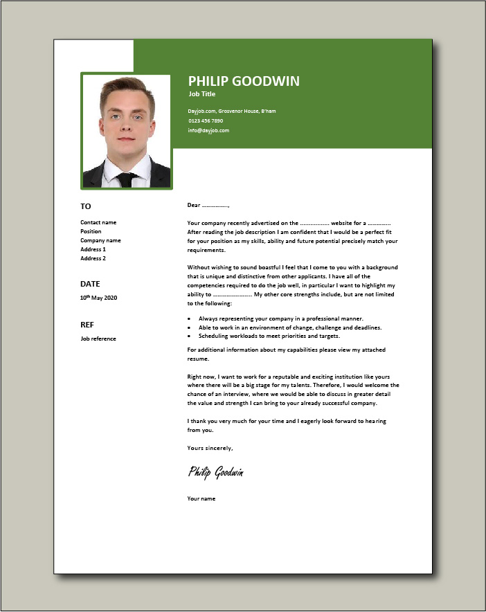 Free Cover letter example 68