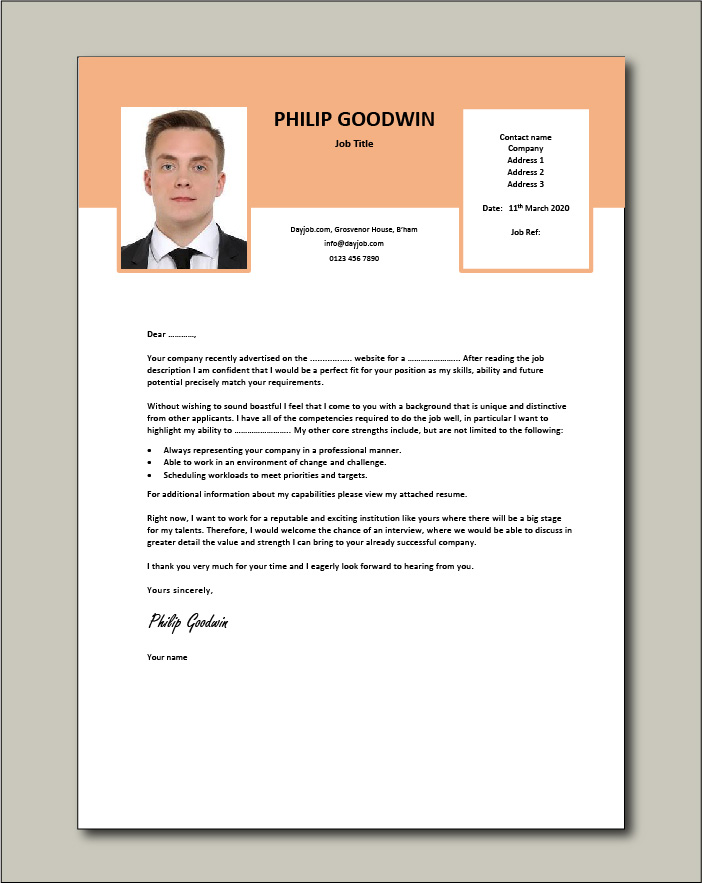 Free Cover letter example 69