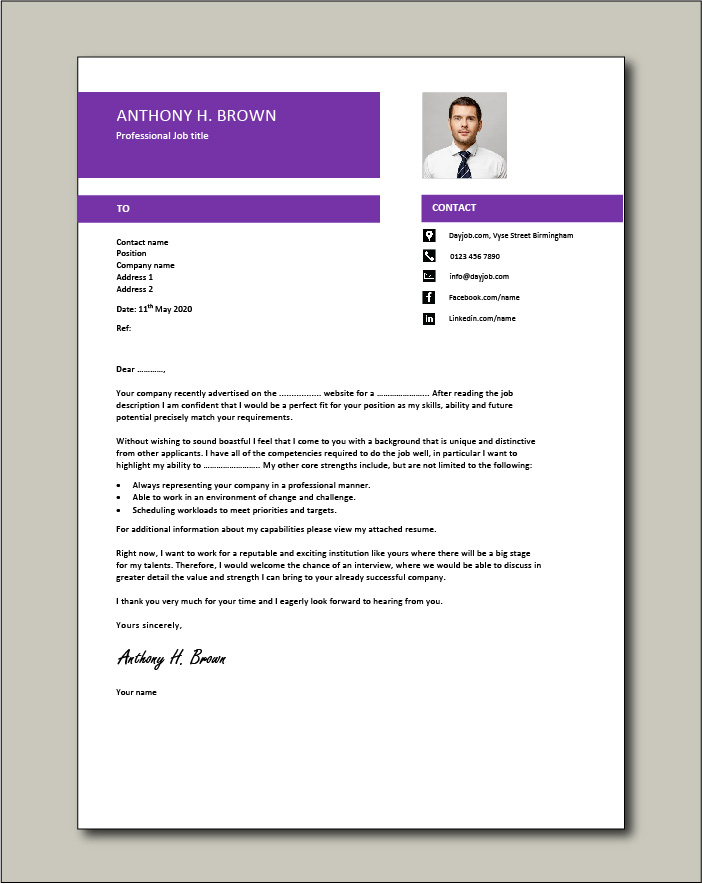 Free Cover letter example 71