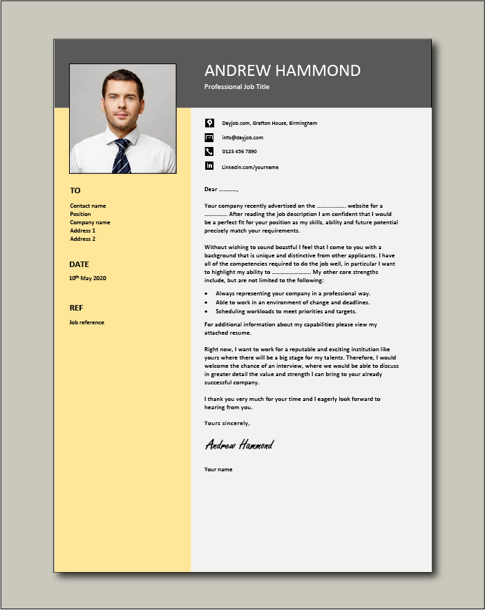 Free Cover letter example 73