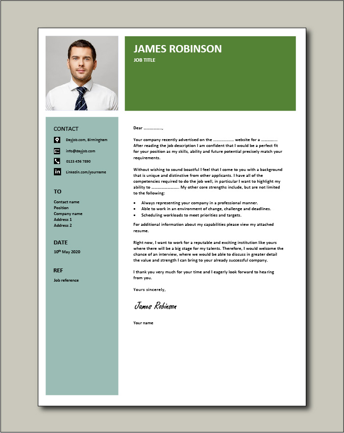 Free Cover letter example 75