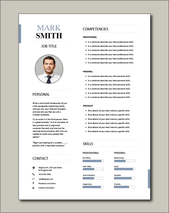 Free Functional CV template 2