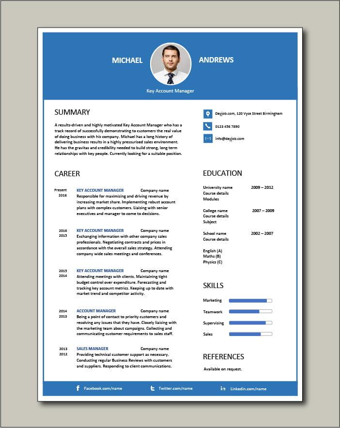 Free Key Account Manager resume 4