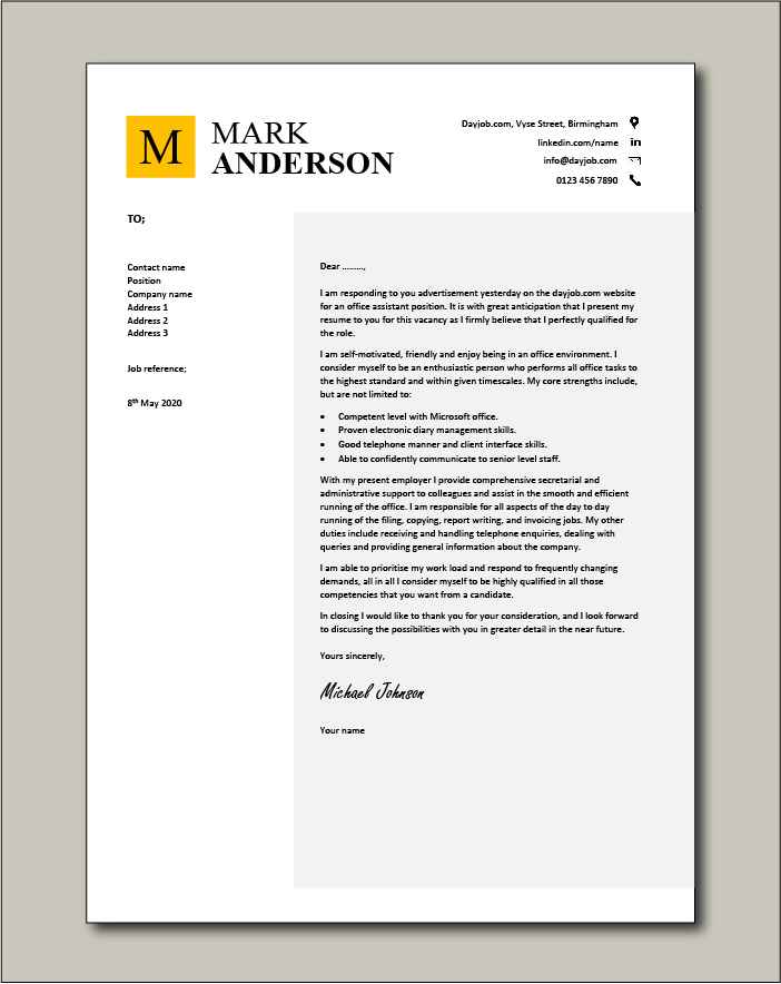 Administrative Assistant Resume Cover Letter from www.dayjob.com