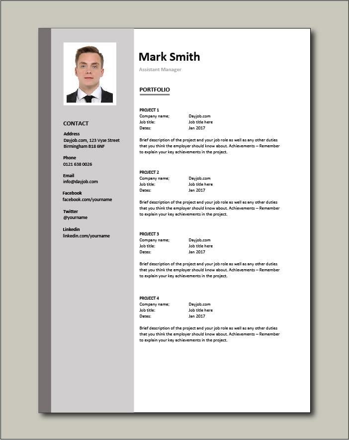 Free Assistant Manager - Portfolio