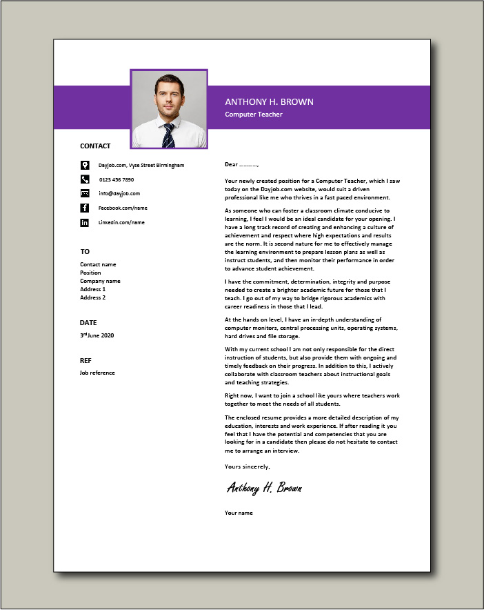 Tutor Cover Letter Examples from www.dayjob.com
