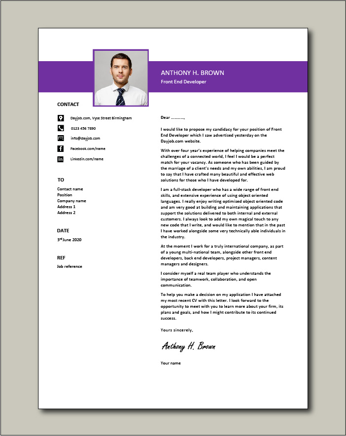 Cover Letter For Ui Developer from www.dayjob.com
