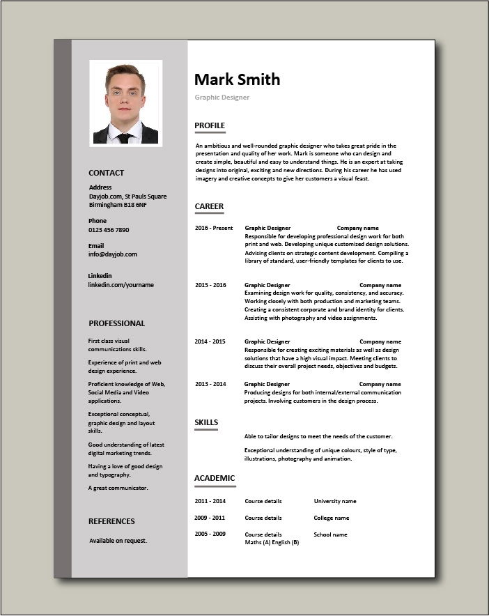Graphic Design Resume Designer Samples Examples Job