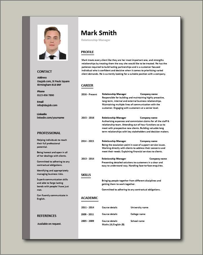 Relationship Manager Resume Account Management Cv Job