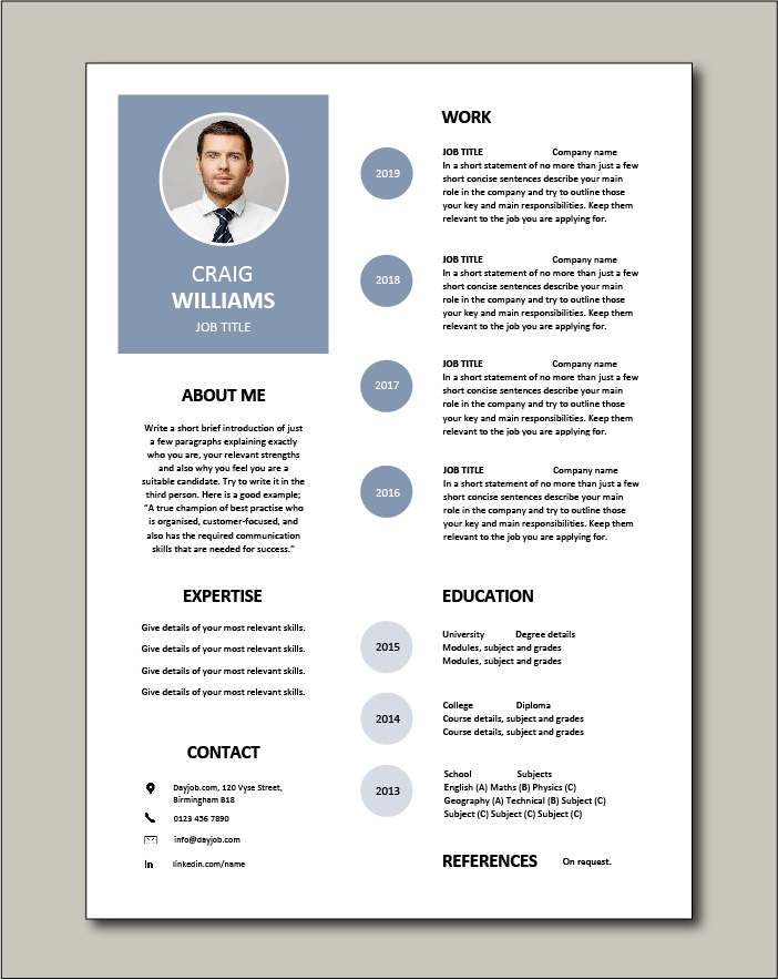 Free Resume Template 1
