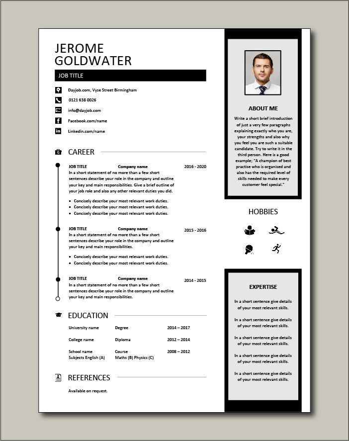 Free Resume Template 16 - 1 page