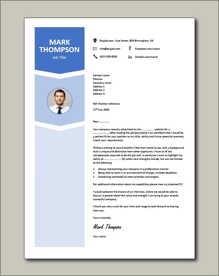 Premium CV template 55 - Cover letter