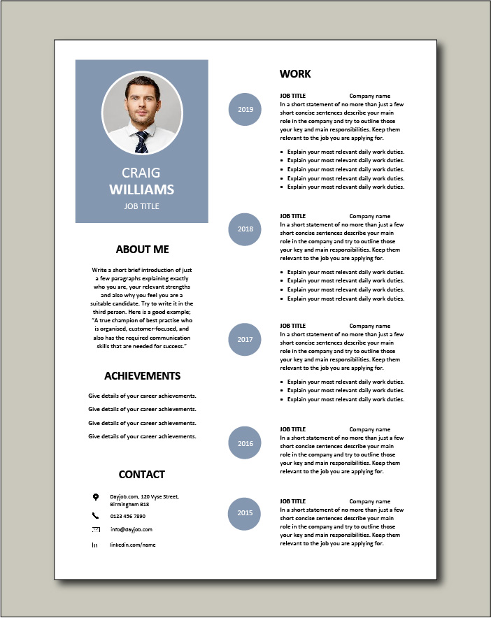 Premium CV template 57 - 2 pages