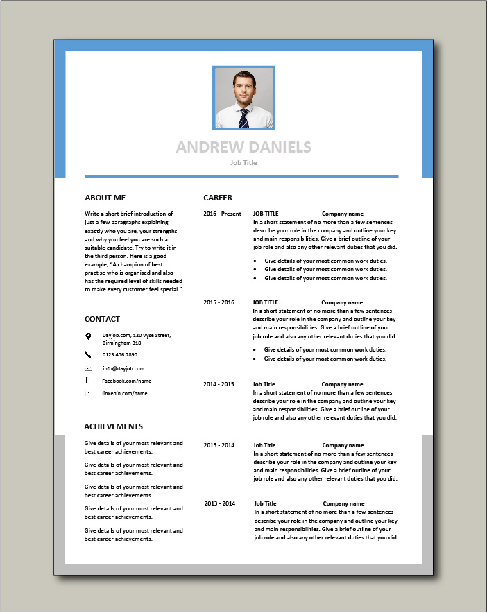 Premium CV template 59 - 2 pages