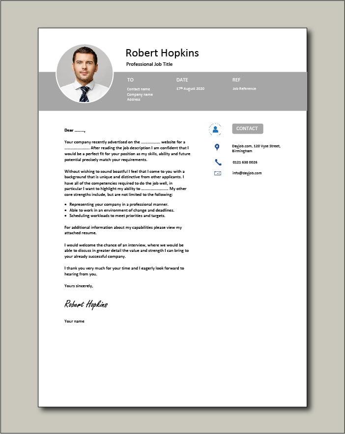 Premium CV template 65 - Cover letter