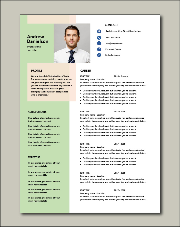 Premium template 52 - 2 pages