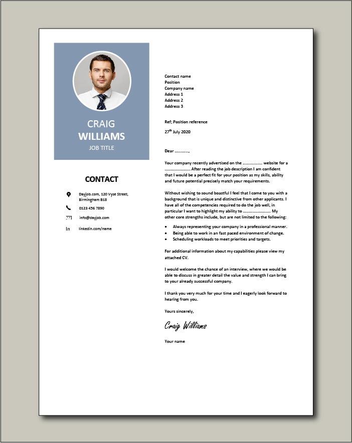 Premium template 57 - Cover letter