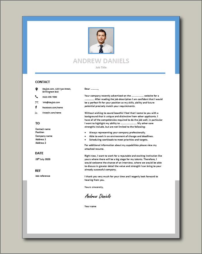 Premium template 59 - Cover letter