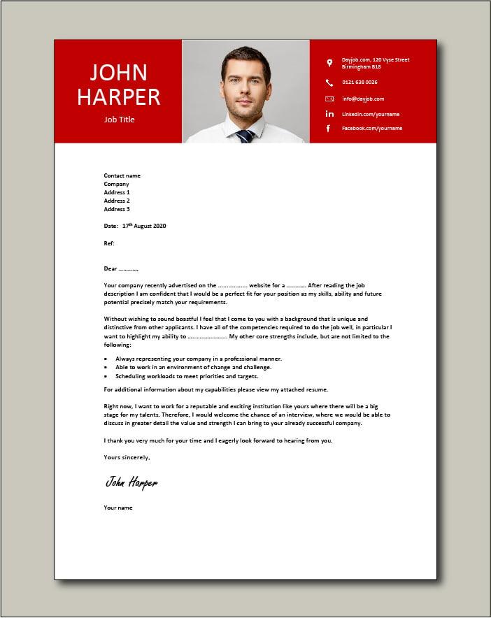 Premium template 67 - Cover letter