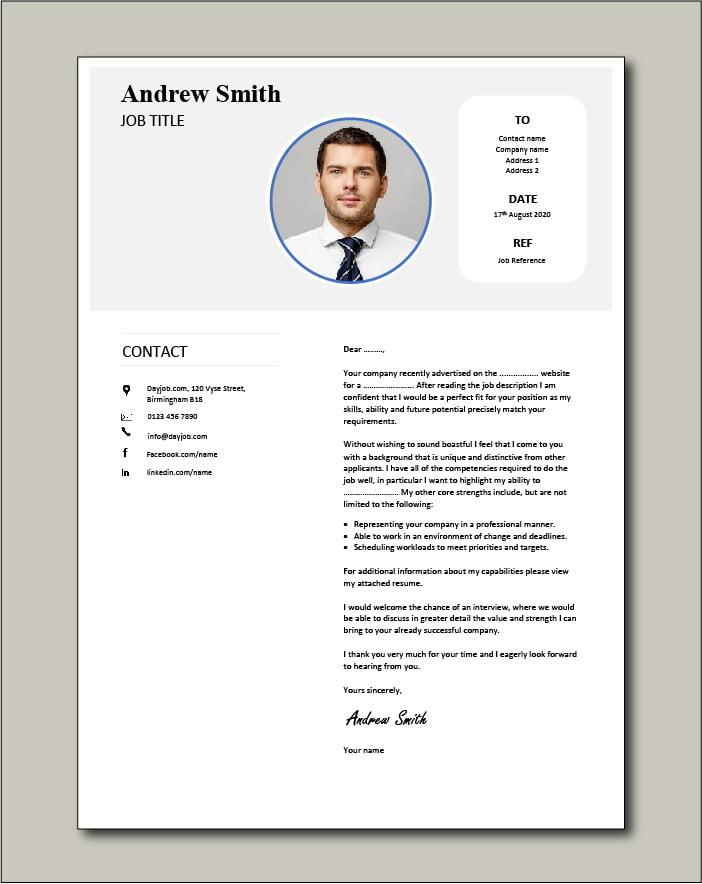 Premium template 68 - Cover letter